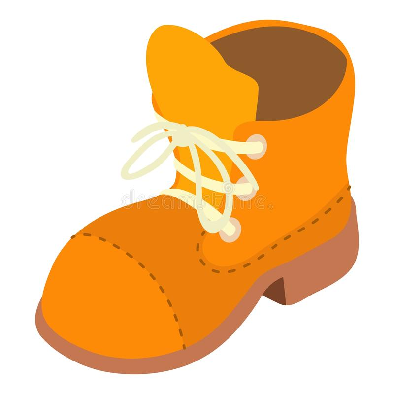 Hiking shoe icon, isometric style vector illustration