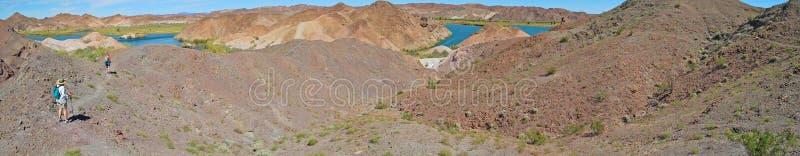 Hiking the Southwest - Panorama royalty free stock image