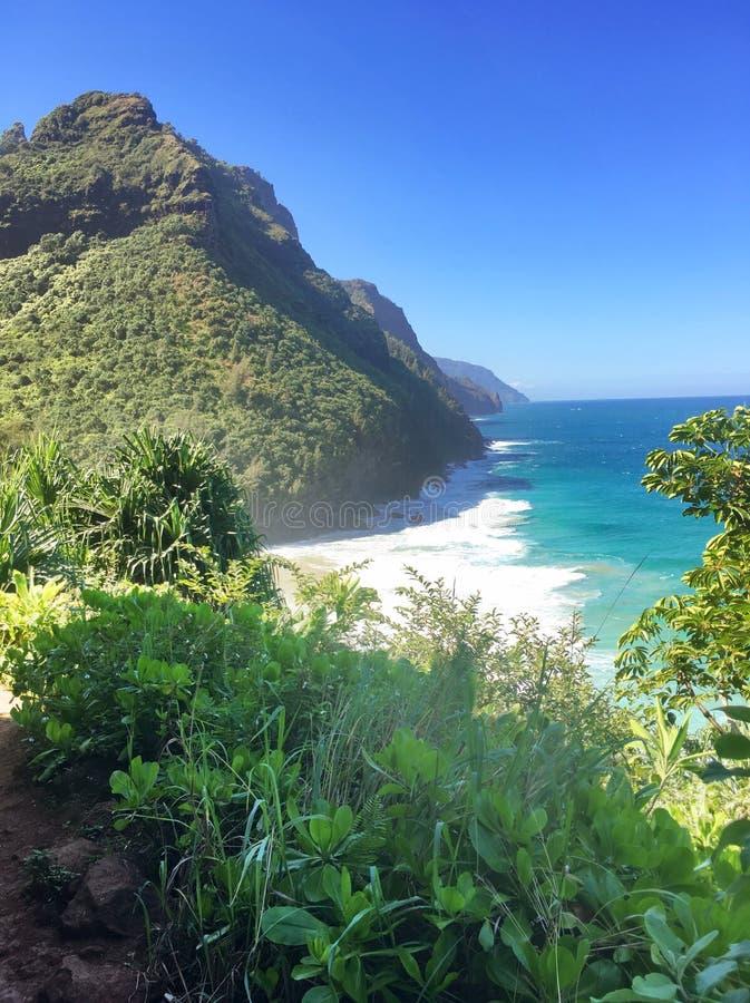 Free Hiking The Scenic Kalalau Trail To The Scenic Na Pali Coast In Kauai Hawaii Stock Images - 86439084
