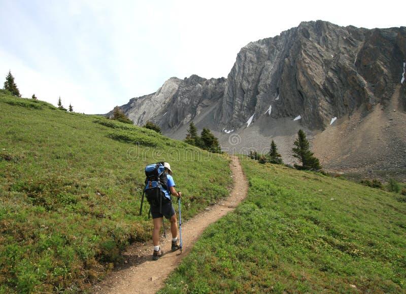 Hiking Towards Mount Arethusa royalty free stock image