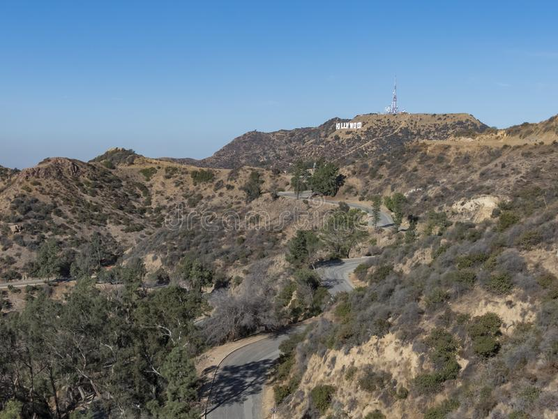 Hiking trail around San Gabriel Mountain. At Los Angeles royalty free stock image