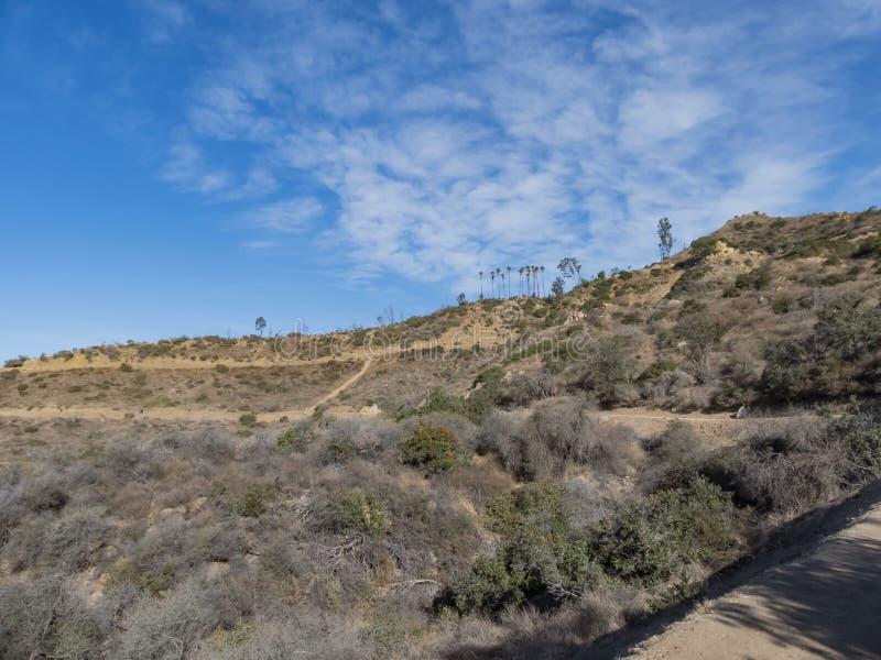 Hiking trail around San Gabriel Mountain. At Los Angeles royalty free stock photos