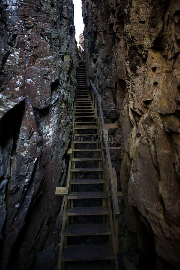 Hiking trail chasm
