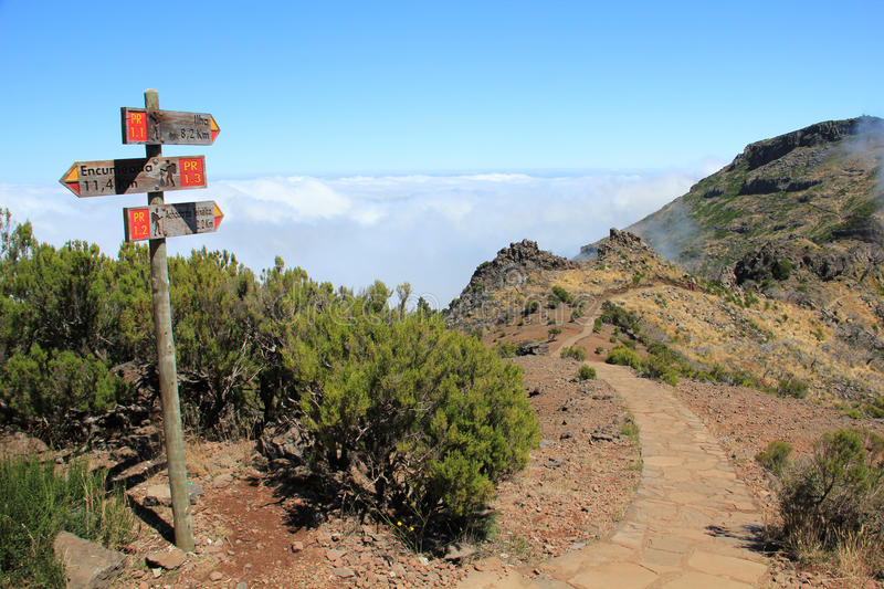 Hiking trail in Madeira royalty free stock image