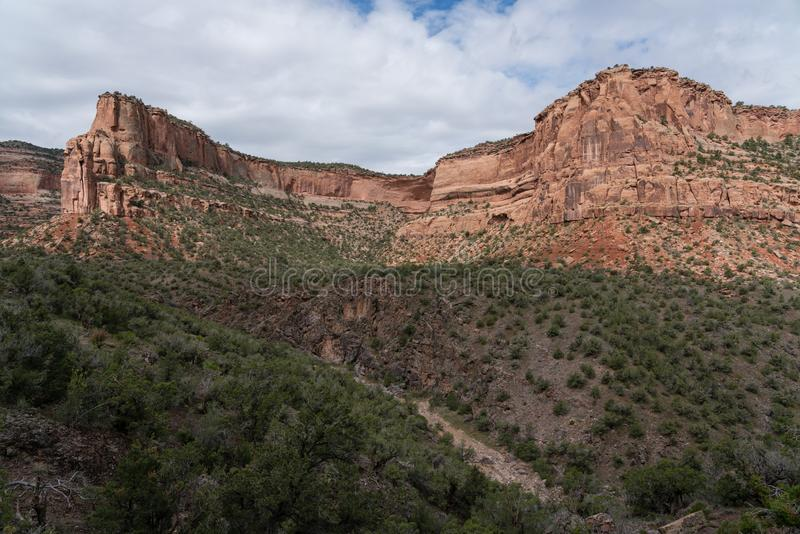 Devil`s Canyon - Fruita Colorado. Hiking trails lead into this wilderness area near Fruita, Colorado royalty free stock images