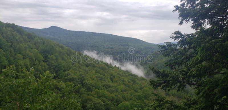 Hiking Upstate New York. Trip, summer, raning, rainy stock photo