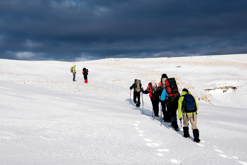 Download Hiking in winter stock photo. Image of dangerous, travel - 12721146