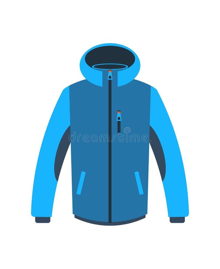 Hiking winter jacket isolated vector icon royalty free illustration