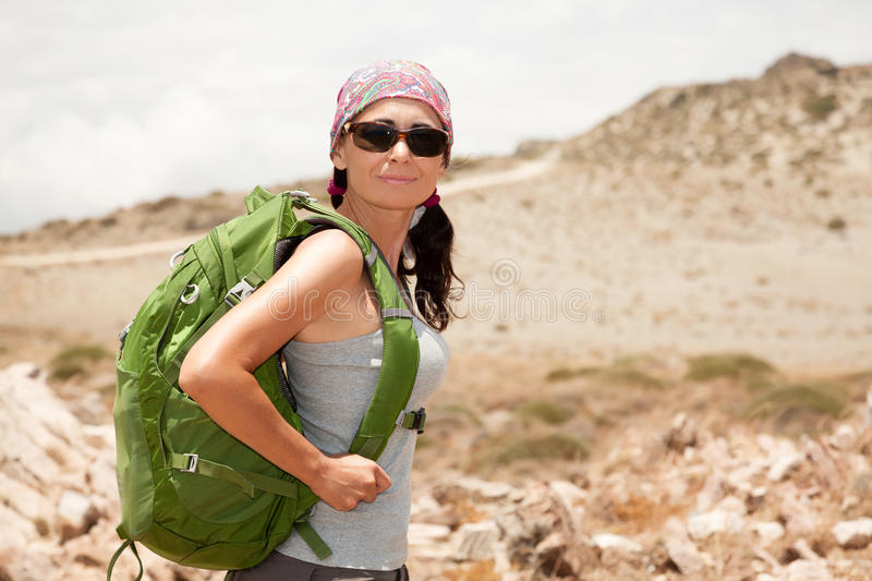 Download Hiking woman stock photo. Image of people, standing, caucasian - 32291270