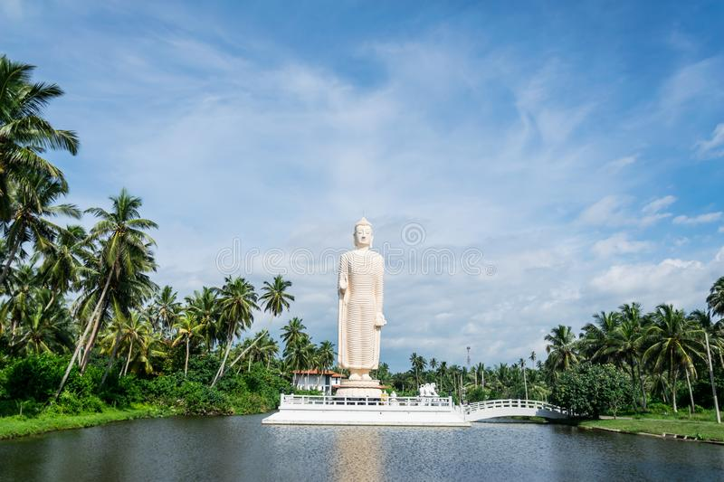 HIKKADUWA, SRI LANKA, November 25, 2019: Buddha Statue constructed in memory of the victims of the Tsunami of 2004 stock photos