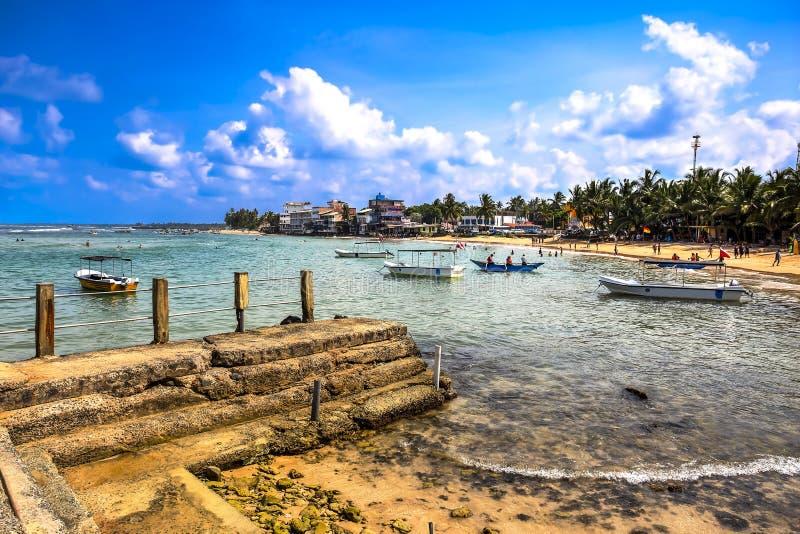 Hikkaduwastrand, Sri Lanka stock foto