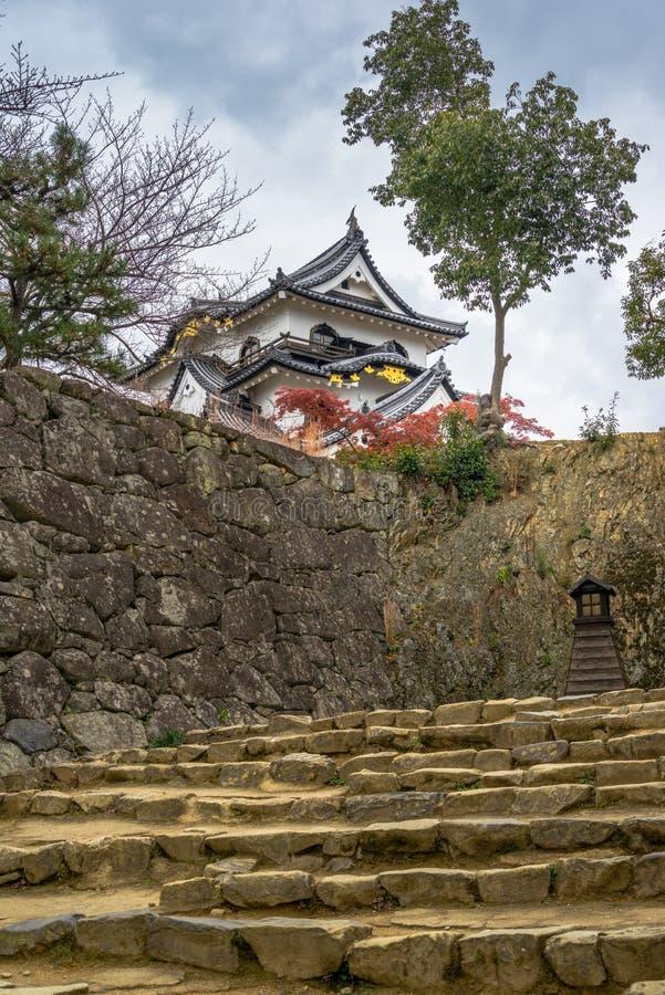 Hikone Castle-de herfst royalty-vrije stock afbeeldingen