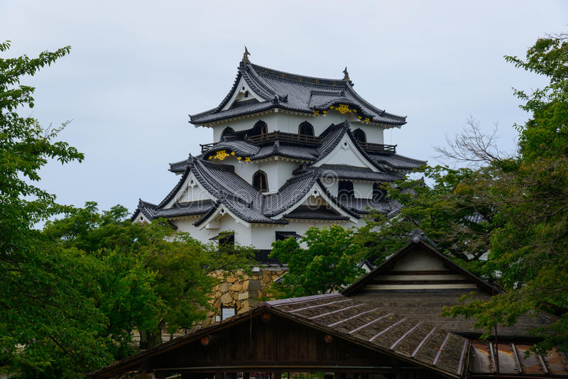 Hikone Castle in Shiga, Japan royalty-vrije stock afbeelding