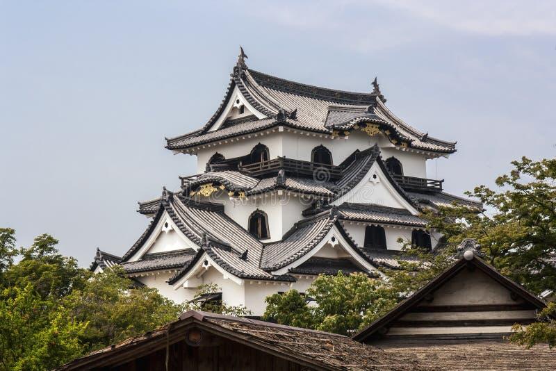 Hikone Castle - Westelijk Japan royalty-vrije stock foto's