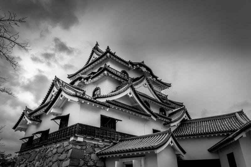 Hikone Grodowy historyczny fotografia stock