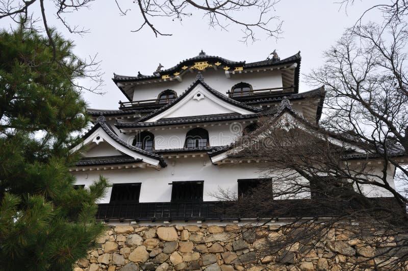 Hikone-Schloss-Unterhalt (Hikone Jo) stockbilder