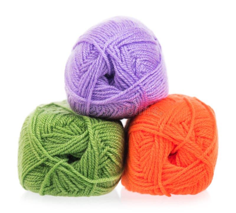 Hilado de lana brillante imagenes de archivo