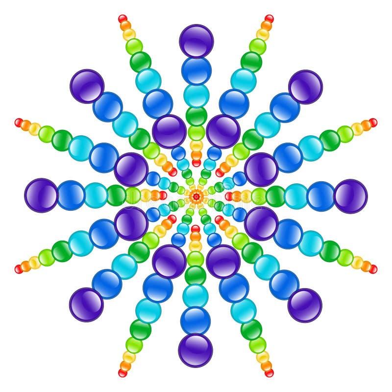 Hilandero de los puntos de las cuentas de cristal del arco iris imagenes de archivo