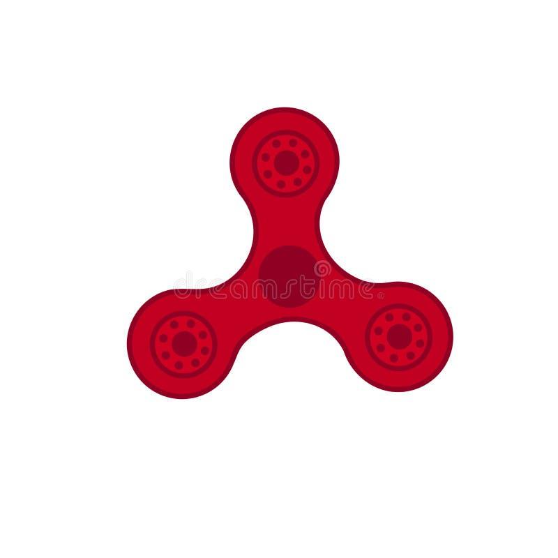 Hilandero rojo del juguete popular, ejemplo del vector ilustración del vector