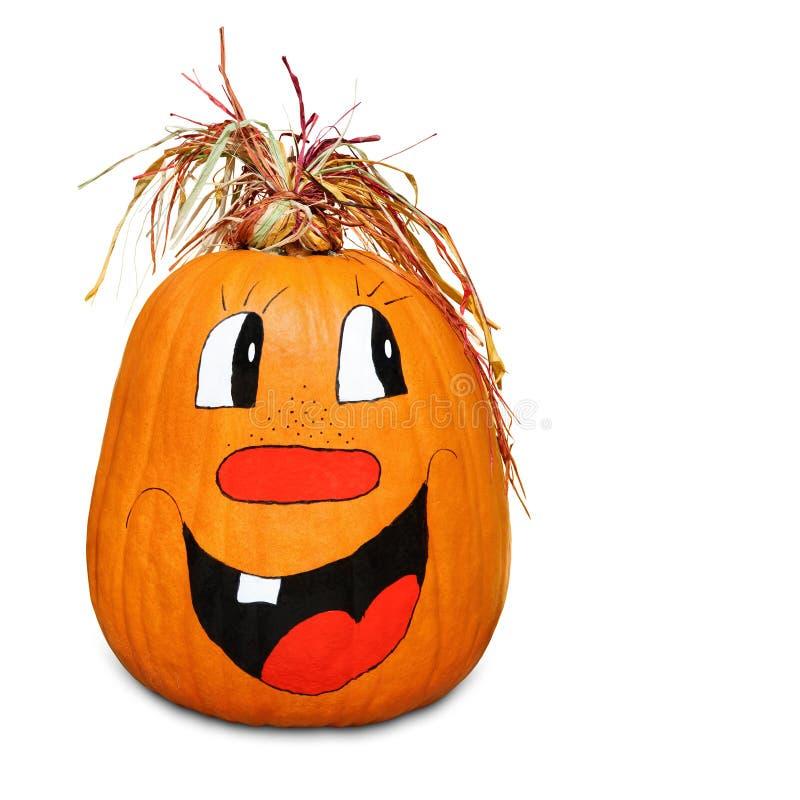 Hilarious happy pumpkin royalty free stock photo
