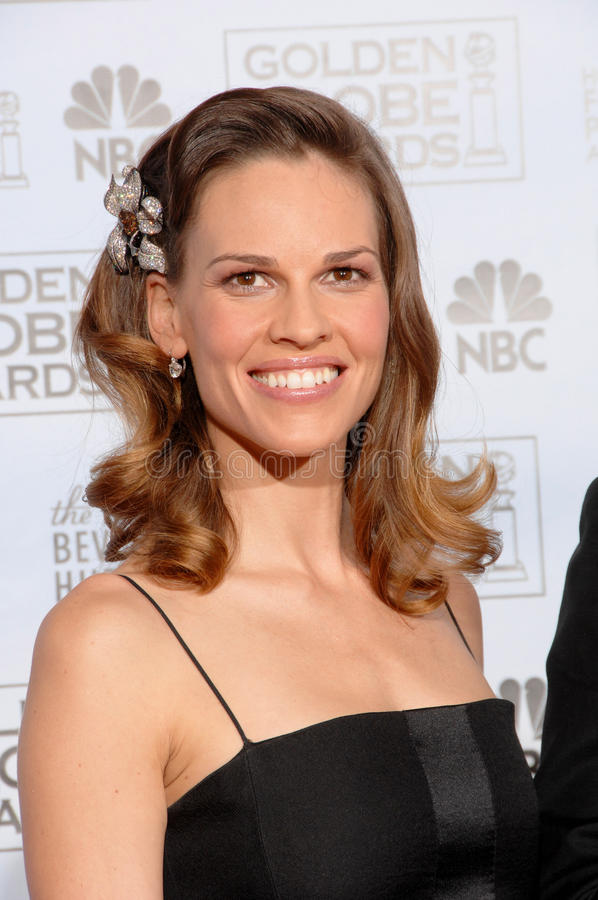 Hilary Swank stock image
