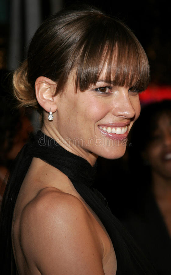 hilary swank obraz royalty free