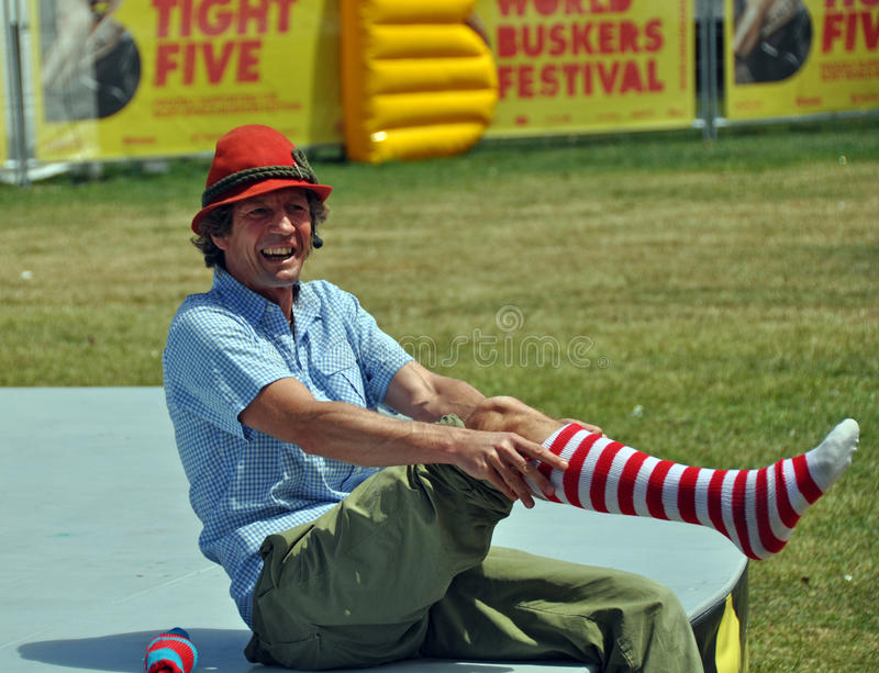 Download Hilby The Skinny German Juggle Boy At World Buskers Festival Editorial Image - Image: 28796850