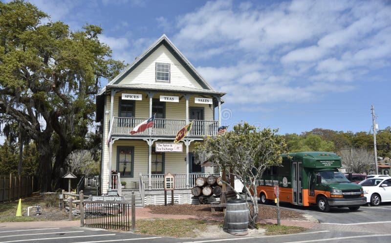 Hildreth hus på den gamla staden St Augustine, Florida royaltyfri fotografi
