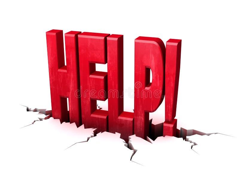 Hilfe stockfoto