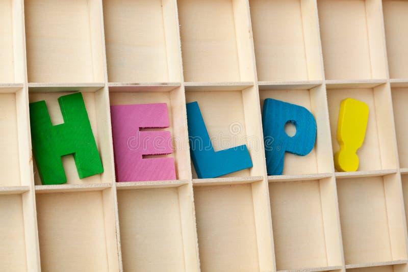 Hilfe lizenzfreies stockbild