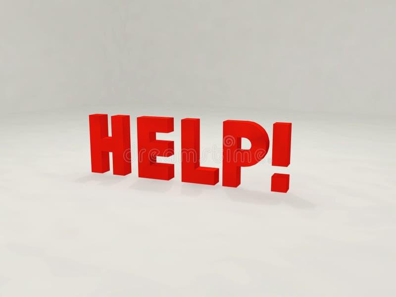 Download Hilfe 3d! stock abbildung. Illustration von unterstützung - 44399
