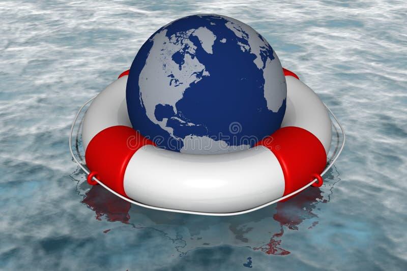 Hilfe in der globalen Krise lizenzfreie abbildung