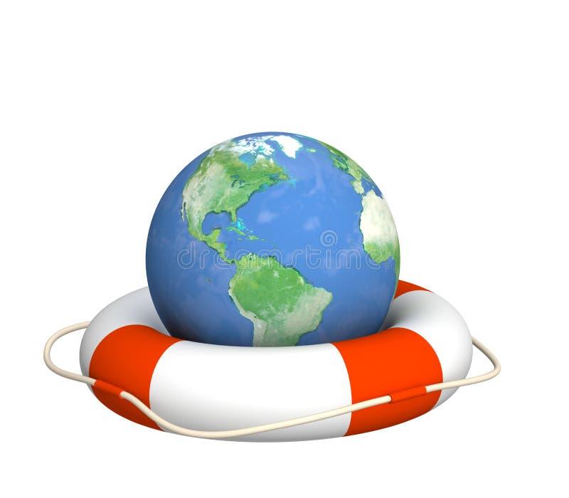 Hilfe in der globalen Krise vektor abbildung