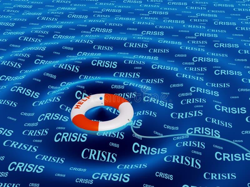 Hilfe in einer Krisensituation lizenzfreie abbildung