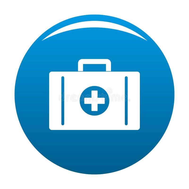 Hilfsausrüstungs-Ikonenblau lizenzfreie abbildung