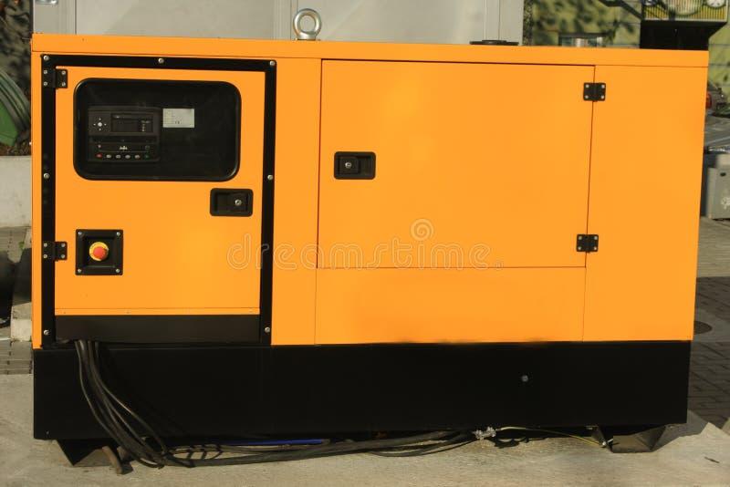 Hilfsdiesel Eenerator für Notfall Electric Power lizenzfreie stockbilder