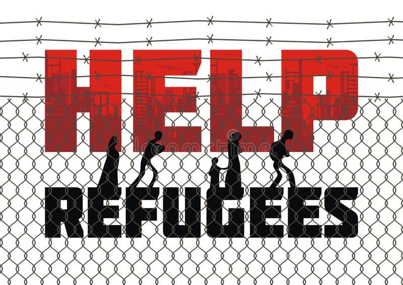 Hilfsflüchtlingsplakat lizenzfreie abbildung