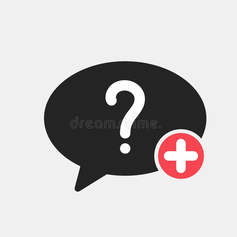 Hilfsikone mit addieren Zeichen Helfen Sie Ikone und neuem, Plus-, positivem Symbol stock abbildung