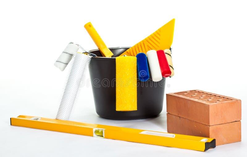 Hilfsmittel des Aufbaus (Anstrich) stockbild