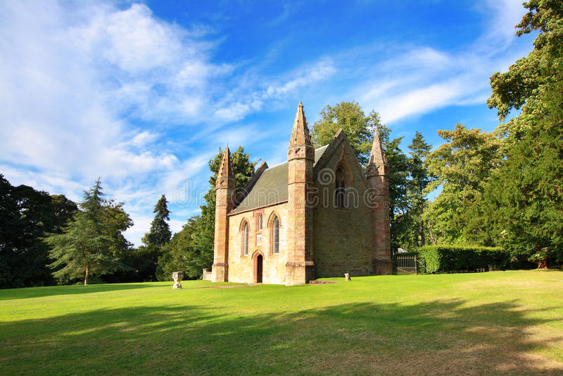 Hill συνέλευσης ή μποτών λόγω Scone Castle, Σκωτία στοκ φωτογραφία