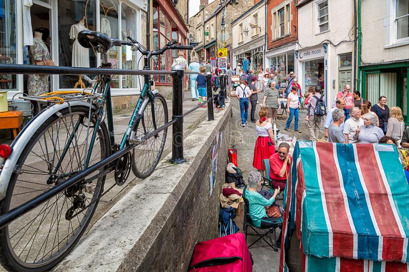 Hill της Catherine, Frome, Somerset - αγορά της Κυριακής στοκ φωτογραφίες