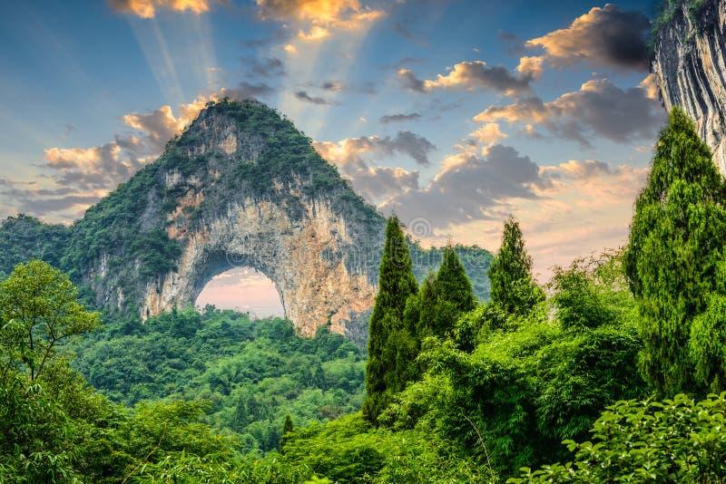 Hill φεγγαριών της Κίνας στοκ εικόνες με δικαίωμα ελεύθερης χρήσης