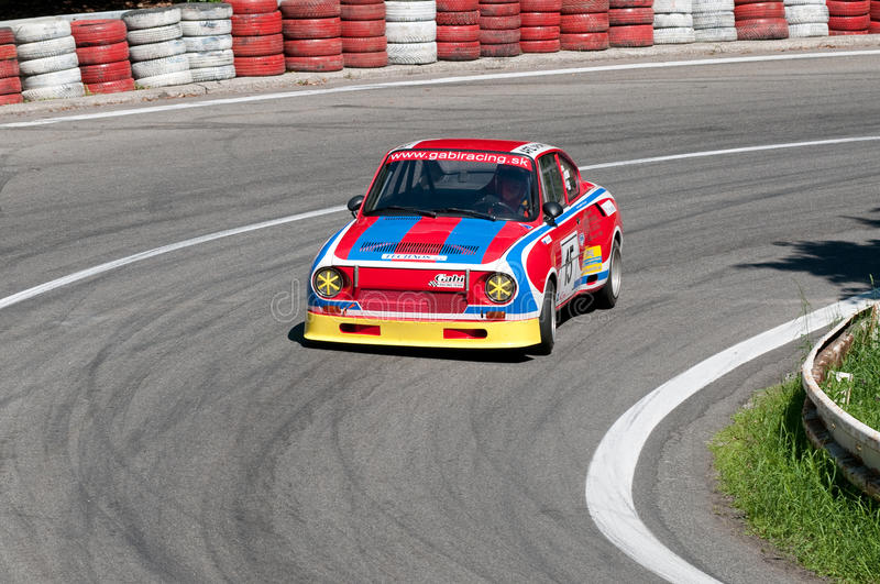 Hill Climb Championship of Central Europe 2009. PEZINSKA BABA, SLOVAKIA - MAY 24: Competitor of the Hill Climb Championship of Central Europe 2009 in Pezinska royalty free stock image