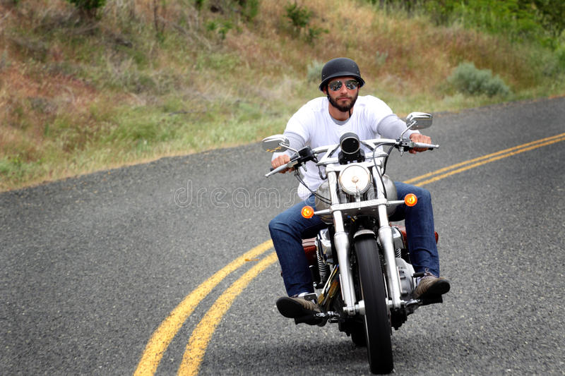 Hill Country Bike Rider royalty free stock images