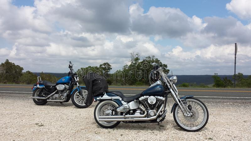 Hill country riders stock photography