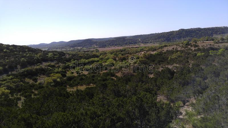 Hill country view stock image