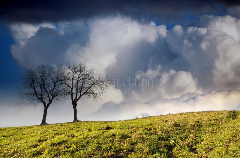 Hill in the countryside royalty free stock image