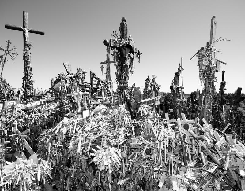 The Hill of Crosses royalty free stock images