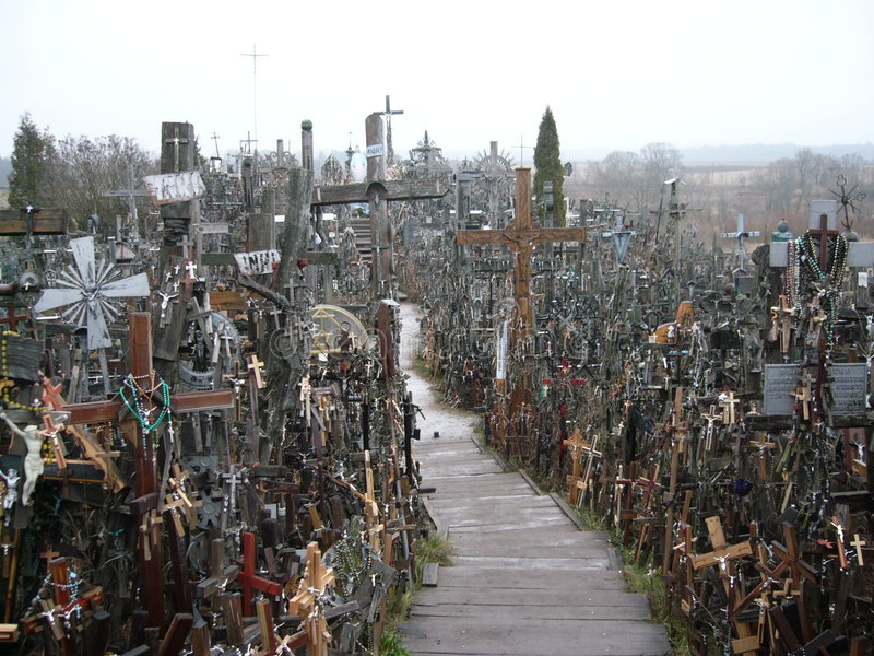 Hill of Crosses stock image