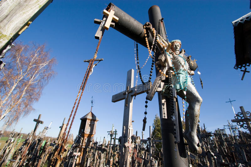 Download Hill of crosses, Lithuania stock image. Image of lithuania - 19478325